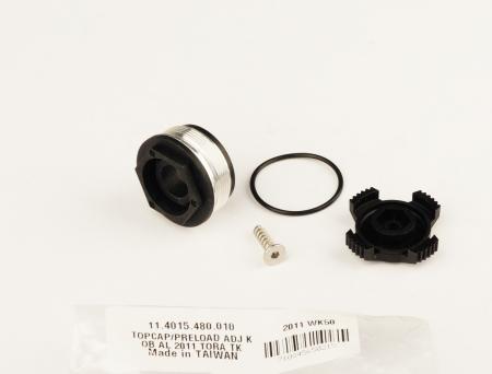 Top Cap/Preload Adjuster Knob, Aluminum 2011 Tora Tk1