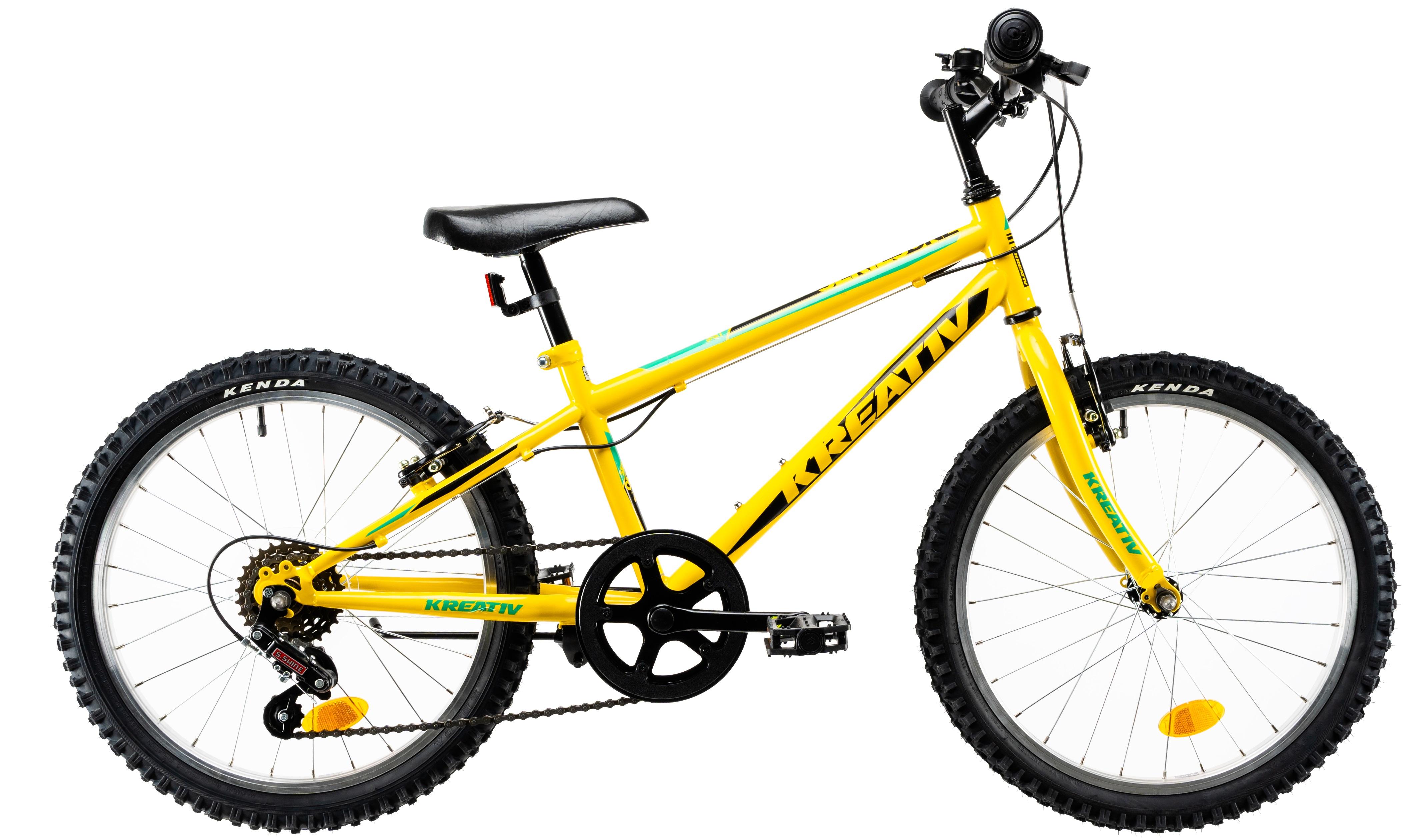 Bicicleta Copii Kreativ 2013 Galben/Verde 20 Inch0