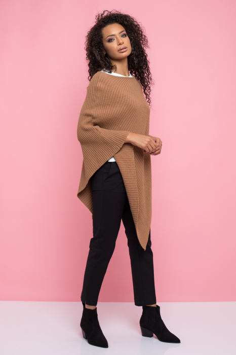 Poncho pulover dungi in material [1]