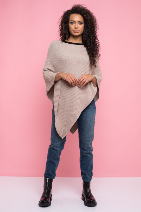 Poncho pulover dungi in material [0]