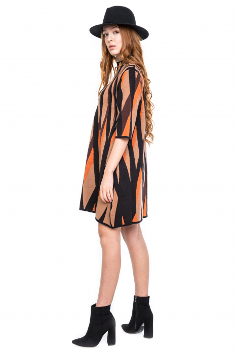 Rochie forme geometrice colorate 1