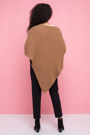Poncho pulover dungi in material [2]