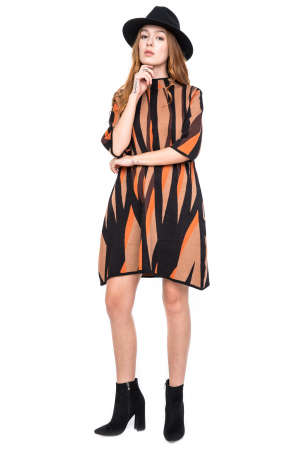 Rochie forme geometrice colorate0