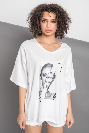 TRICOU DAMA BE WHO YOU ARE [5]
