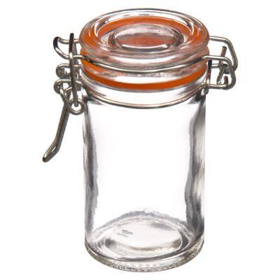 146691 Set de 10 borcane de sticla 0.06 L cu capac 0