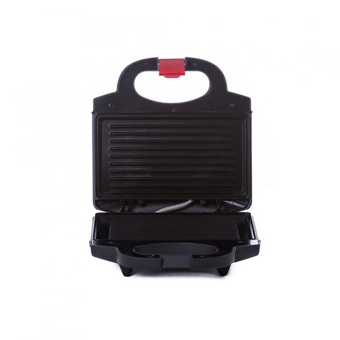 Sandwich maker Albatros S2B-750, 750 W, placi neaderente tip grill, maner termorezistent, indicator luminos incalzire, negru [0]