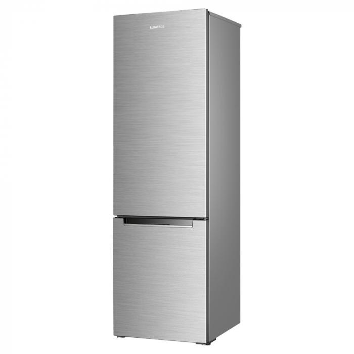 Combina frigorifica Albatros CFX34, 269 litri, clasa F, inaltime 176 cm, termostat reglabil, argintie [0]