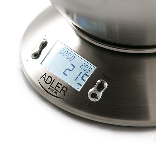 AD3134 Cantar de bucatarie Adler, 5 kg, 1 g, Inox 2
