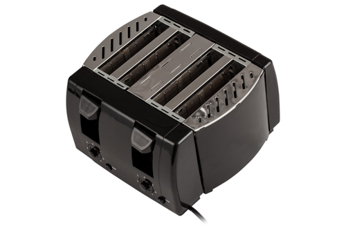 AD3211 Toaster Adler, 4 felii, 1300W, tavita firimituri, buton Stop, negru 3