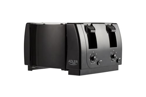 AD3211 Toaster Adler, 4 felii, 1300W, tavita firimituri, buton Stop, negru 2