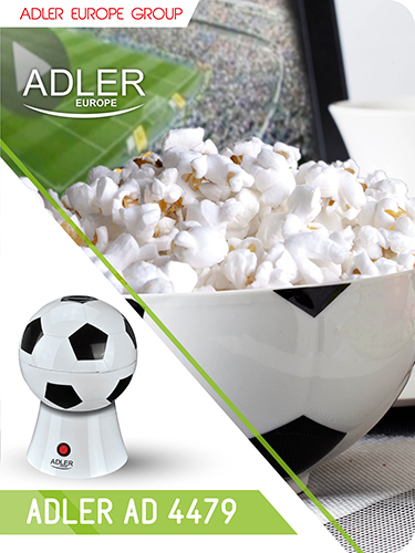AD4479 Aparat pentru popcorn Adler, 1200 W, Fara ulei 1