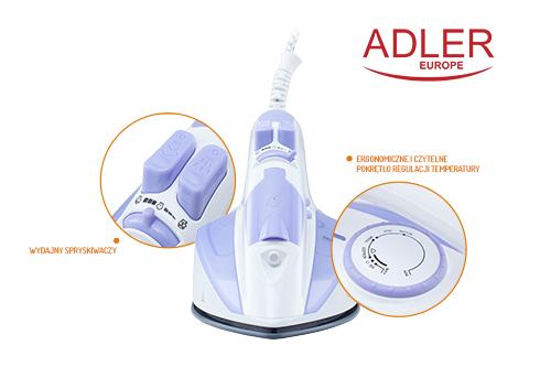 AD5011 Fier de calcat Adler, Putere 2000W, talpa ceramica, anti-calcar, anti-picurare 4