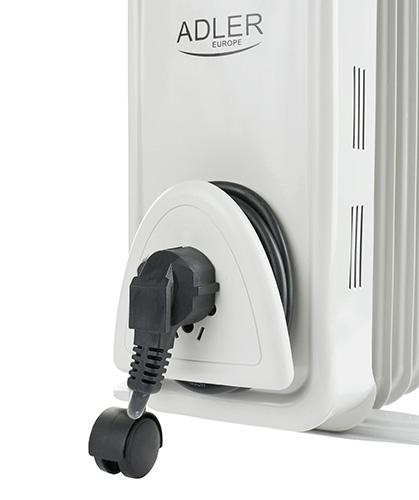 Calorifer electric Adler AD 7807, termostat, 7 elemente, 1500W 3