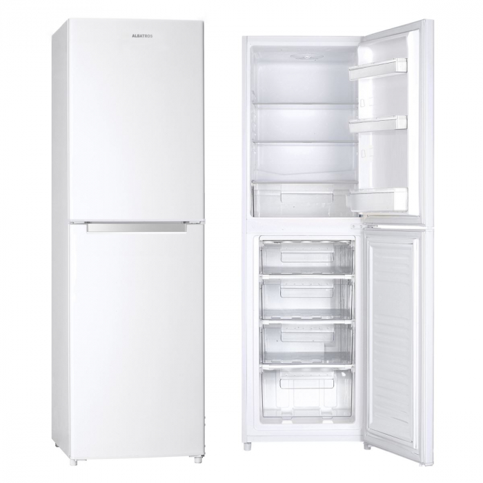Combina frigorifica Albatros CF33A+, Static, 246 L, Termostat reglabil, Sertar legume, Uşi reversibile, H 176 cm, Alb [1]