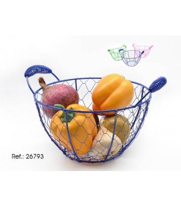 Cos fructe rotun cu maner 0