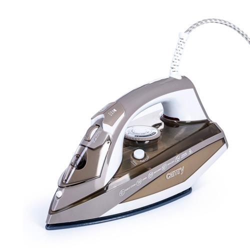 CR5018 Fier de Calcat cu Aburi Camry, Putere 3000W, Calcare Verticala sau Orizontala, Talpa Ceramica, Functie Auto-Curatare si Anti-Picurare, Filtru Anticalcar 0