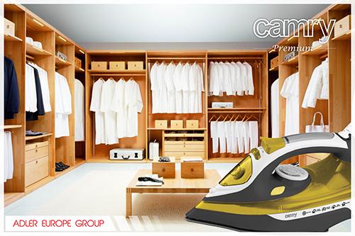 CR5029 Fier de Calcat cu Aburi Camry, Talpa Ceramica, Putere 3000W, Functie Auto-Curatare si Anti-Picurare, Calcare Verticala 9