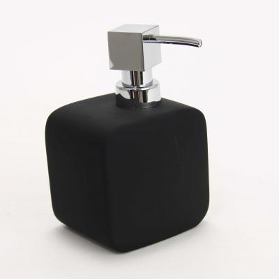 116557  Dispenser ceramic cauciucat sapun negru 0