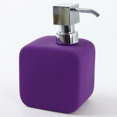 Dispenser ceramic cauciucat sapun purpuriu 0