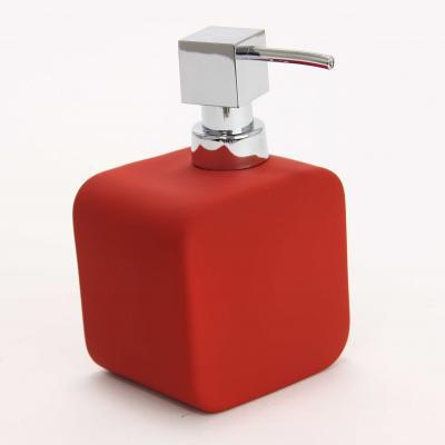 Dispenser ceramic cauciucat sapun rosu 0