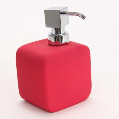 116561  Dispenser ceramic cauciucat sapun roz [0]
