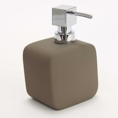 Dispenser ceramic cauciucat sapun taupe 0
