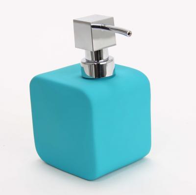 116562  Dispenser ceramic cauciucat sapun turcoaz 0