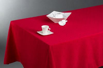 Fata de masa rosu patrat, L.240.00cm ; l.140.00cm- NOU 0