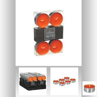 Lumanare pastila portocaliu x 6 buc 0