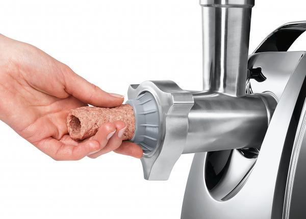 MFW67450 Masina de tocat carne Bosch, 2000 W, 3.5 kg/min, Accesoriu suc rosii, 3 site, palnie carnati si kebbe, Negru/Gri 7