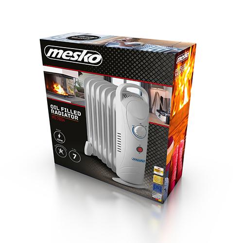 MS7804 Calorifer electric cu ulei Mesko, 7 elementi, putere 700W , temperatura reglabila [4]