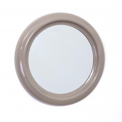 116705  Oglinda baie PVC rotund 30cm taupe [0]
