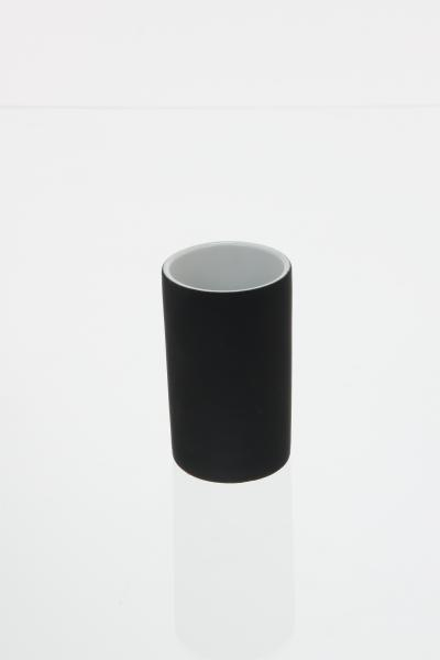 105589  Pahar ceramic cauciucat negru 0