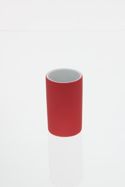 Pahar ceramica cauciucat rosu 0