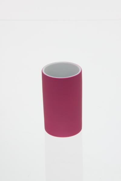 105593  Pahar ceramic cauciucat roz 0