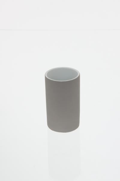 105591  Pahar ceramic cauciucat taupe 0