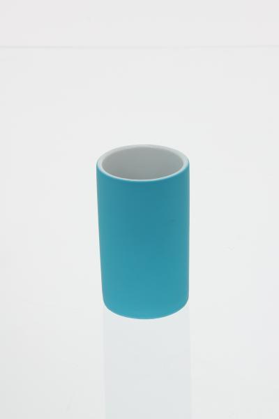 105594  Pahar ceramic cauciucat turcoaz 0