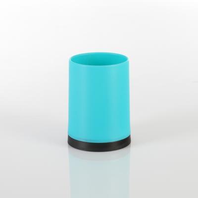 105562  Pahar PP albastru, H 10.3 cm 0