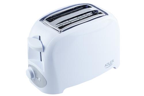 Prajitor de paine ADLER AD 3201, 750 W, 2 felii, Grad de rumenire variabil, Alb 2