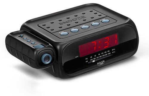 Radio cu ceas si alarma , proiectie laser ADLER AD 1120 ,negru 0