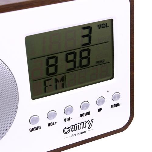Radio digital Camry CR 1153 , ceas, termometru, alarma, lcd, calendar 2