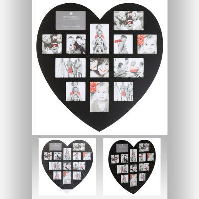 102267A  Rama foto inima negru 13 0