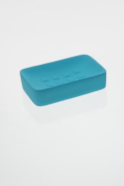 Sapuniera ceramica cauciucata albastru 0