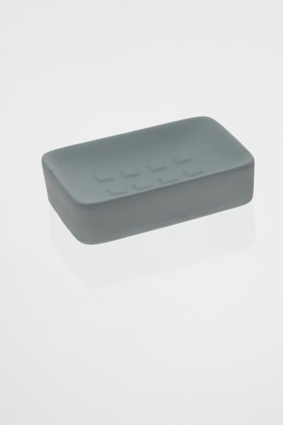105598  Sapuniera ceramica cauciucata  gri [0]