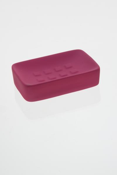 105601  Sapuniera ceramica cauciucata roz [0]
