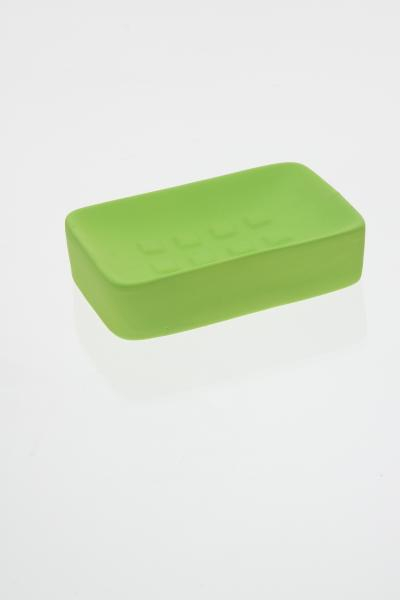 105600  Sapuniera ceramica cauciucata verde 0