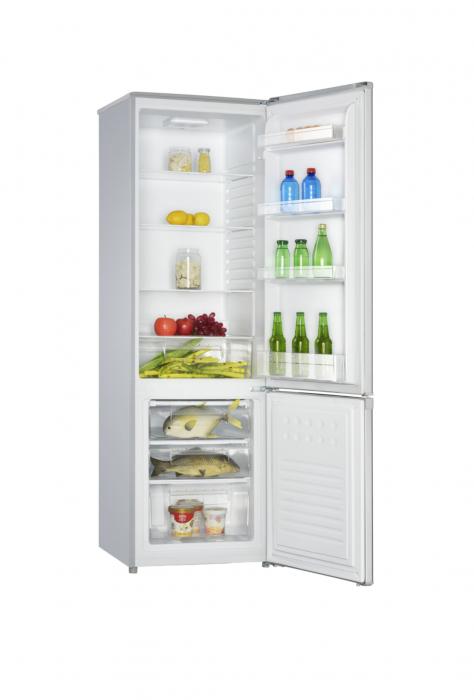 Combina frigorifica Heinner HC-H273SF+, 264 l, Clasa F, Iluminare LED, Control mecanic, Termostat ajustabil, H 176 cm, Argintiu [1]