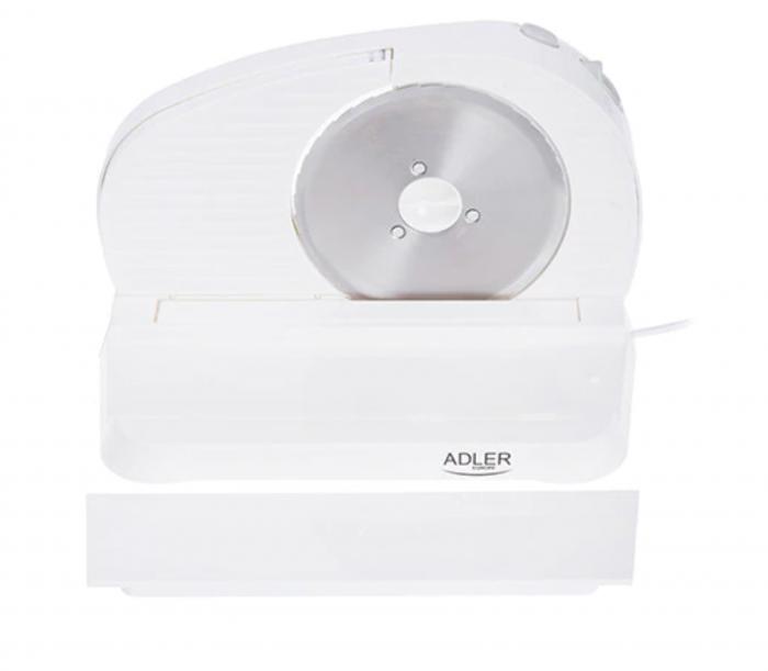 Feliator Adler, putere 200W, cutit otel inoxidabil, indicator grosime, alb [5]