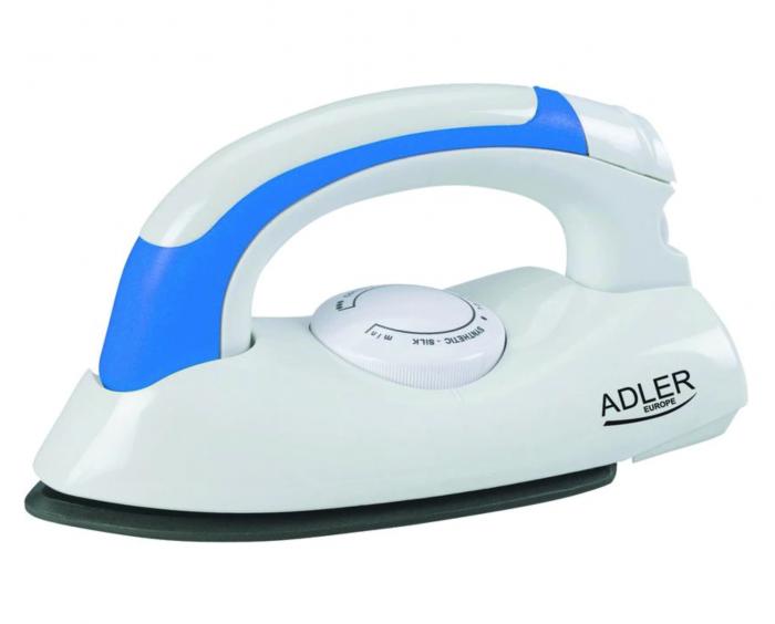 Mini Fier de Calcat Pliabil pentru Calatorii Adler, Putere 800W, Culoare Alb/Albastru [0]