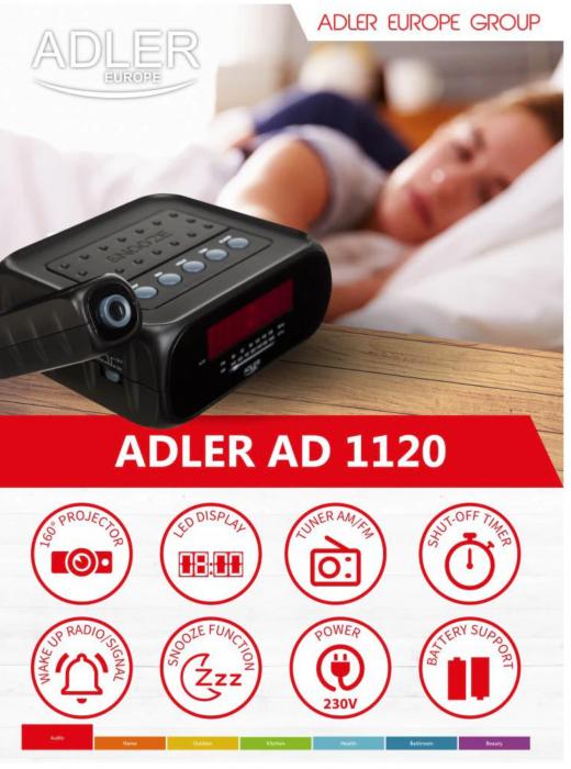 AD1120 Radio cu ceas ADLER [1]